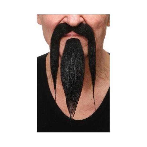 Moustache et bouc luxe chinois noire