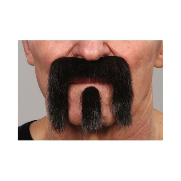Moustache Seventies luxe barbichette noire