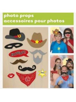 Kit photobooth 10 accessoires western