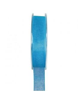 Ruban organdi turquoise 7mm