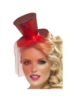 Mini Chapeau Haut de Forme Rouge