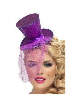 Mini Chapeau Haut de Forme Violet