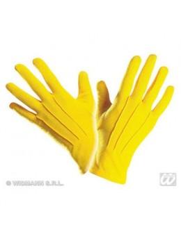 Gants polyester adulte jaune