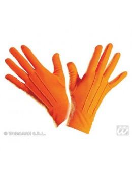 Gants polyester adulte orange
