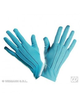 Gants polyester adulte turquoise