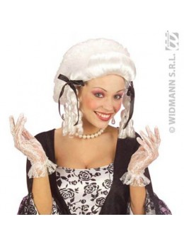 Gants dentelle blanche