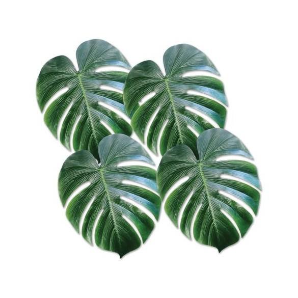 4 Décos feuilles tropicales