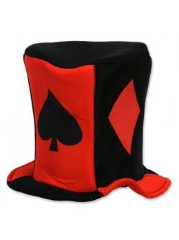 Chapeau Haut de forme motif casino