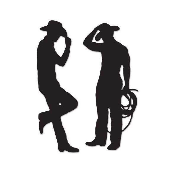 2 Décos silhouettes cowboy