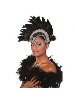 Coiffe danseuse brésilienne luxe noire