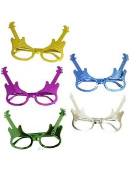 Pack 5 lunettes guitare sans verre