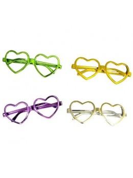 Pack 5 lunettes coeur sans verre