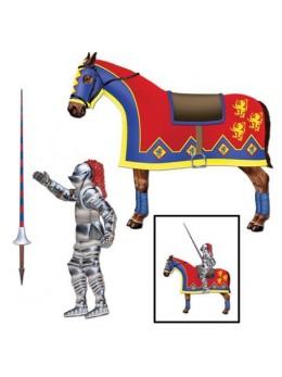 Déco chevalier sur cheval