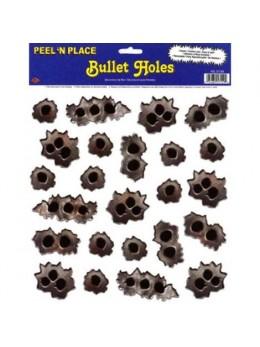 Déco 24 impacts de balles