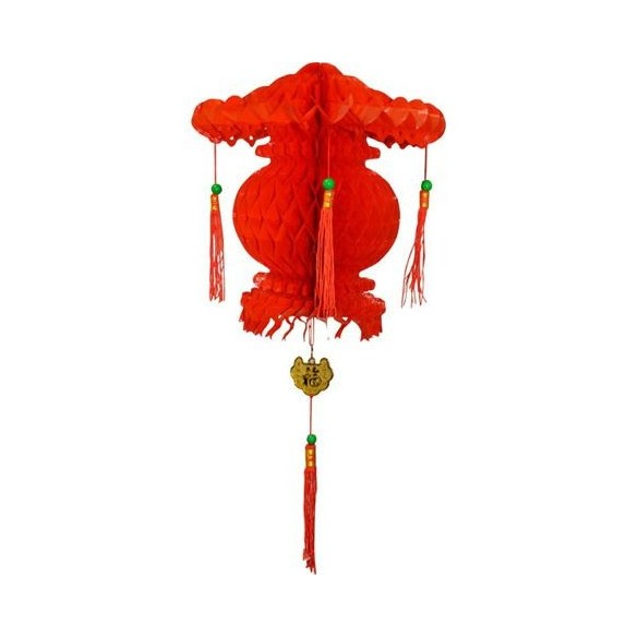 Suspension chinoise rouge 30cm