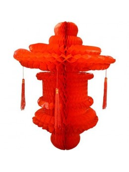 Suspension chinoise rouge 80cm