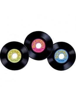 3 Décors disques vynil 23cm