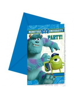 6 Invitations Monsters University