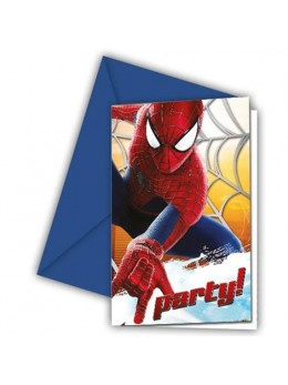 6 Invitations Spiderman 2