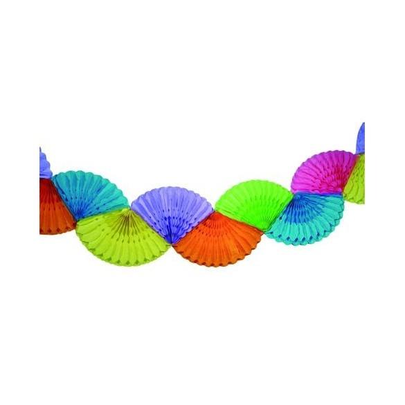 Guirlande éventail Multicolore