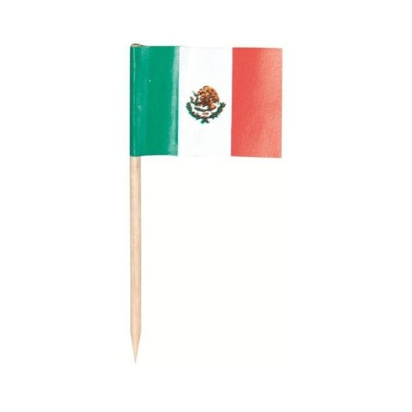 144 mini drapeaux mexique