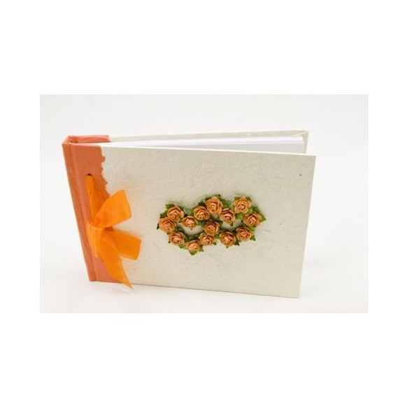Livre d'or Coeur Orange