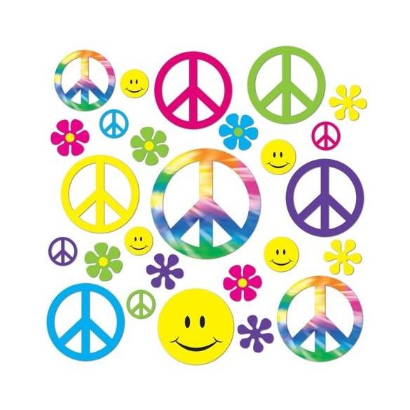 Décos Peace et Smiley