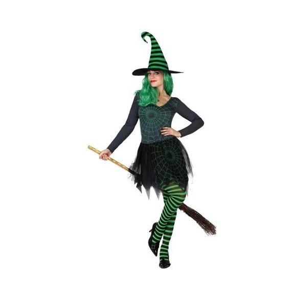 Déguisement sorcière verte et noire