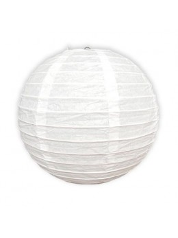 Lampion ballon blanc 25 cm