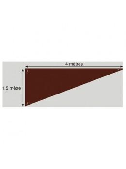 Tenture triangle Chocolat