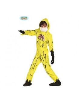 Déguisement zombie jaune