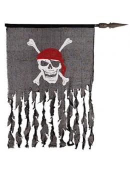 Drapeau lambeaux de pirate 100cm