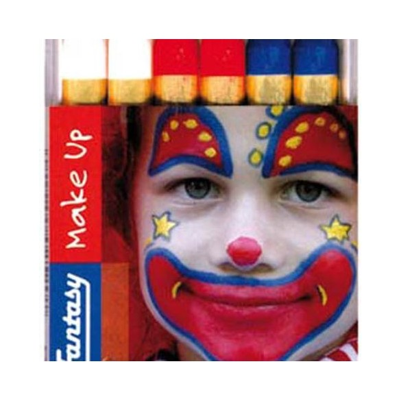 Boite 6 crayons tricolore