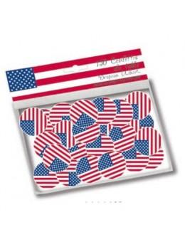 150 Confetti de table USA