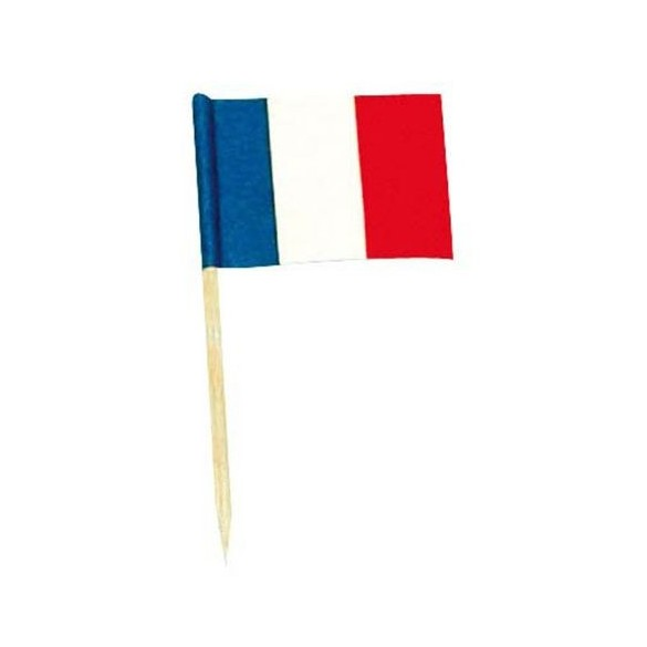 50 mini drapeaux France