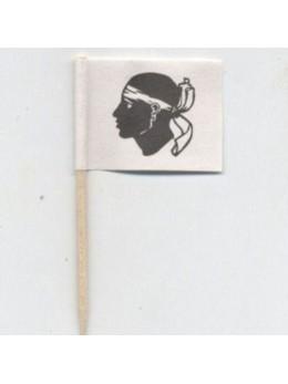 144 mini drapeaux Corse
