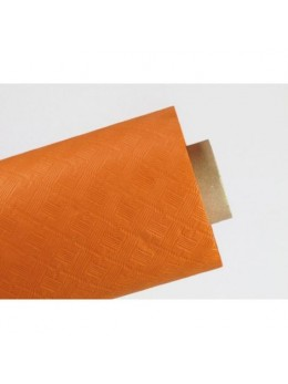 Nappe damassée 25m orange