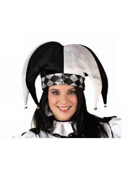Chapeau Arlequin Blanc et noir