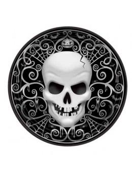 8 Assiettes géantes Skull