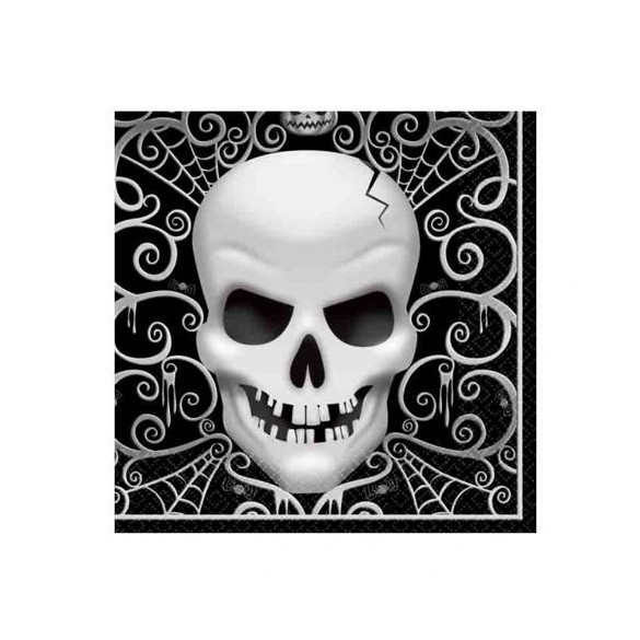 16 Serviettes lunch Skull