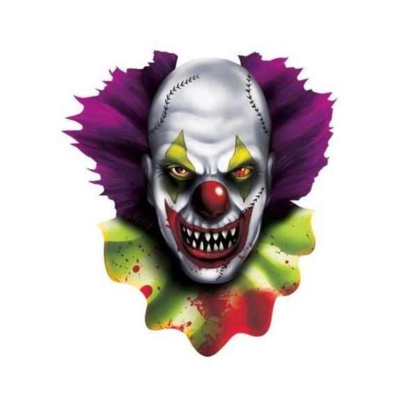Déco tête de clown psychopathe