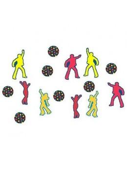 16 Confetti en bois disco