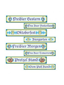 4 Panneaux de rue Oktoberfest