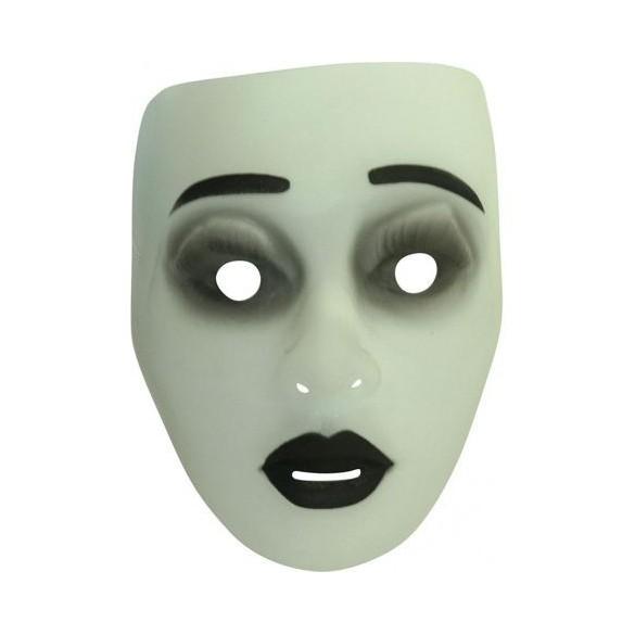 Masque femme fluorescent