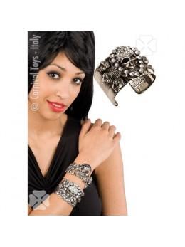 Bracelet rockeur strass