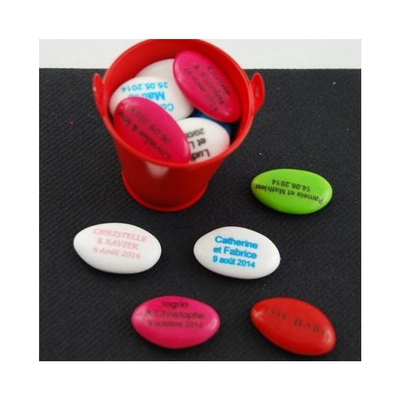 Dragées personnalisées chocolat texte