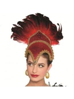 Coiffe danseuse brésilienne luxe rouge