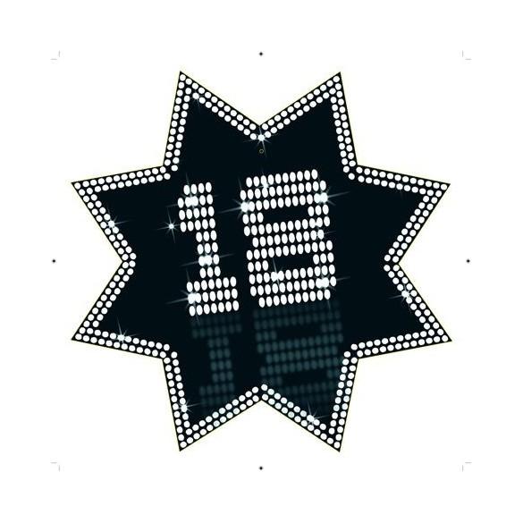 Cut-out étoile 18 ans