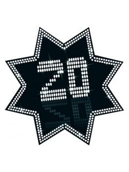 Cut-out étoile 20 ans