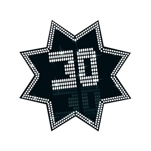 Cut-out étoile 30 ans